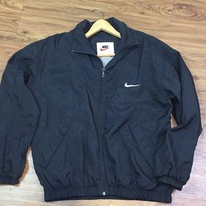 Nike Black Windbreaker Vented Soft Cotton Lining